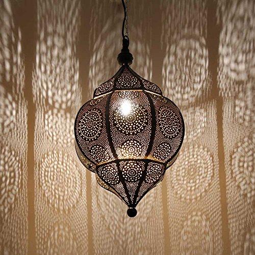 albena shop 71-5310 Abha lámpara oriental de techo ø 27 x 45 cm metal negro / oro interior