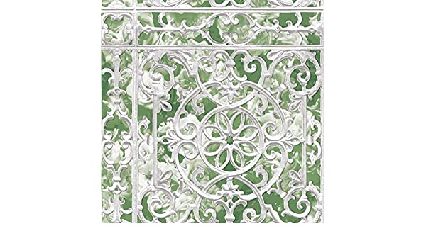 Grace /& Gardenia G05C8001 White Painted Iron Garden Gate Wallpaper