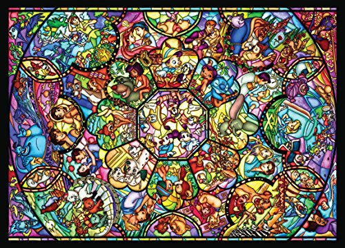 Disney Stained Art Jigsaw Puzzle[500p] All Stars Stained Glass (D500-457) by Disney (Glass Stained Disney Puzzle)