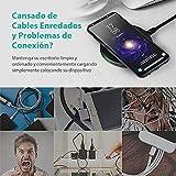 Cargador Inalámbrico Rápido para iPhone X, 8, 8 Plus y Samsung S8, S8+, S7, S7 Edge, S6 de RAVPower 10W QC Cargador Qi Anti-Deslizamiento Diseño para Samsung y iPhone y Teléfonos Qi-enabled