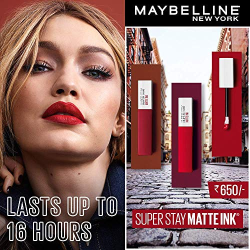 Maybelline New York Super Stay Matte Ink Liquid Lipstick, 20 Pioneer, 5ml