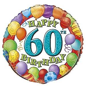 "18 ""de láminas cumpleaños hincha"" 60.o cumpleaños feliz ""Globo"