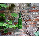Upcycling- Hängelampe aus einer Weinflasche (hellgrün) inklusive Teelicht