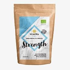 Huaora Strength - Organische Pflanzenproteine - Brauner Reis, Erbsen und Kürbiskernproteine - Für Veganer geeignet