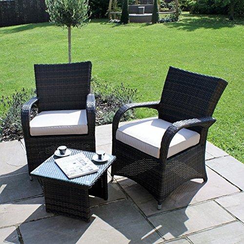 San Diego Rattan Garden Furniture Houston Brown 3 Piece