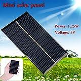 5V 1.25W mini Solarzelle Solaranlage 110 * 69mm für die Aufladung der Handy und Spielzeug