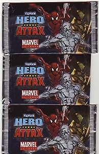 TOPPS - Hero Attax Marvel Avengers Booster 4er Pack (4 Booster-packs), mit je 5 Spiel & Sammel- Karten pro Packung