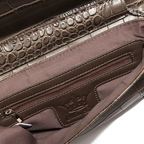 5516S borsa donna MIA BAG ecopelle marrone tracolla frange brown bag woman Marrone