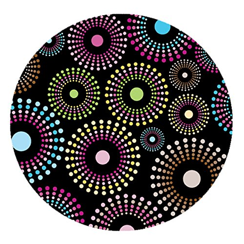 DecoHomeTextil Wachstuch LFGB Bunte Punkte Tischdecke Rund Oval Größe & Farbe Wählbar Kleine...