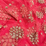 #6: Fab Couture Gajri Net Booti Embroidery for dupatta