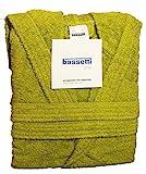 Bassetti Time Bademantel mit Kapuze, Unisex, erhältlich in den Größen S, M, L, XL, XXL, Material: Mikrofrottee aus 100% Baumwolle, 360g/m² M - 46 / 48 GERMOGLIO - 1266 in