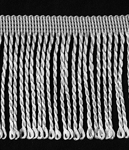 Fransen Länge ab 5,0 m / Breite 80 mm Farbe Hellgrau / Grau (1,39 €/m) Tanzfransen Borte Fransenborte Spitzenborte Posamentenborte Dekoborte Bordüre Borte Fransen Brokat Spitze