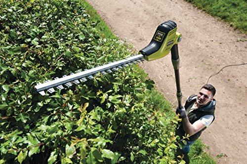 Ryobi RPT4545M Pole Hedge Trimmer with Extension Pole, 450 W – Green/Black