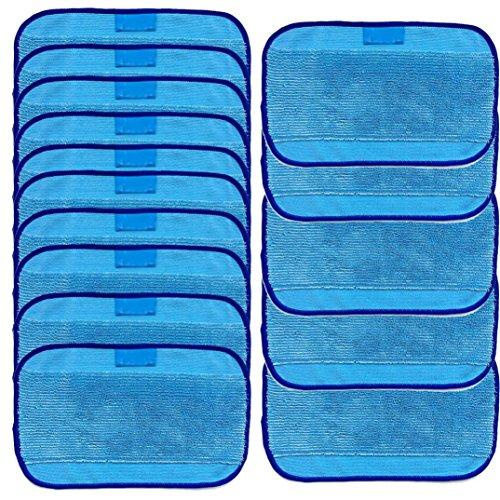 Fulltime® 15 Wet Wischtücher Sets Ersatz-Kits Für Für iRobot BRAAVA 380 380t 320 MINT 4200 4205, 15 Pack, Blau - Kit Mint