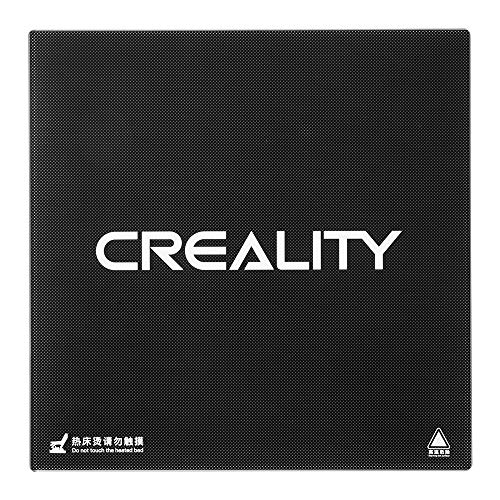Creality Cama calefactada Placa de vidrio de borosilicato Tamano 235mm x 235mm x 3mm Impresoras 3D Partes Piezas templadas por calor Calentamiento endurecido