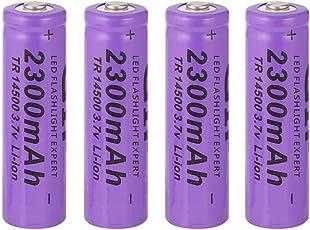 Li-Ionen-Akku, 4pcs 14500 3,7V 2300mAh Ersatzbatterien, für Taschenlampe
