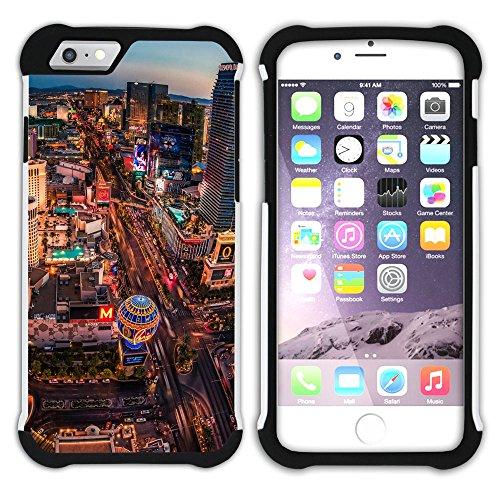 Graphic4You Las Vegas USA United States of America Postkarte Aussicht Hart + Weiche Kratzfeste Hülle Case Schale Tasche Schutzhülle für Apple iPhone 6 Plus / 6S Plus Design #1