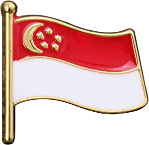 Holibanna Spilla con Bandiera Spilla Nazionale Patriottica Bavero Bavero Spallacci in Metallo Distintivo in Smalto Decorazione Abbigliamento (Cina)