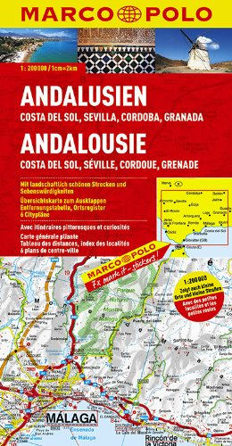 MARCO POLO Karte Andalusien, Costa del Sol, Sevilla, Cordoba, Granada 1:200.000 (MARCO POLO Karten 1:200.000)