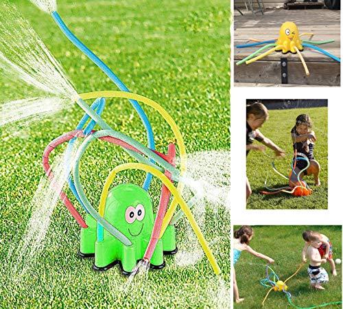 Octopus Wassersprinkler Rasensprüher Kinder Sommer Garten Pfeife Schlauch Wasser Spritzer Bewässerung Spiel Spielzeug
