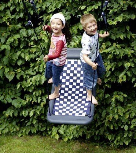 Mehrkindschaukel SPR.M. 101 Standard weiß-blau, Nestschaukel, Familienschaukel, Relaxschaukel, Schaukel.