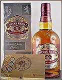Chivas Regal 12 Jahre Blend Scotch Whisky & 45 DreiMeister Edel Schokoladen im Holzkistchen, kostenloser Versand