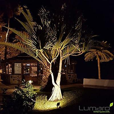Lumaro LED Strahler 50W Extraflach Flutlicht IP65 3000k für außen und innen inkl. IP68 Stromverbinder warmweiß von abalando GmbH auf Lampenhans.de