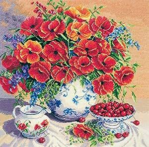 Anchor Kit point de croix compté - Floral Kits - Scarlatti