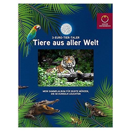 Tiere aus aller welt -3 -EURO-TIER-TALER - Sammelalbum für Münzen (Ohne Münzen)