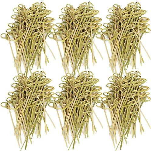 tailspieße aus Bambusholz mit Knoten, Party Picker mit Asia-Style, 9 cm (Fingerfood Halloween)
