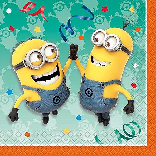 Minions - 16 Servietten 33 x 33 cm - Ich einfach unverbesserlich - Geburtstag & Party
