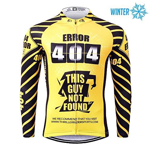 Thriller Rider Sports® Herren Error 404 Sport & Freizeit MTB Fahrradbekleidung Radtrikot Langarm Thermisch Warm Jacke Large