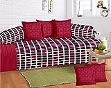 #8: Amayra Home 100% Cotton 120 TC Designer Printed 8Pc Diwan set(1 Single Bedsheet, 2 Bolster Covers, 5 Cushion Covers)