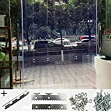DSAQAO Tende PVC Trasparente A Prova di zanzara Plastica Tende divisorie, Porta Striscia Kit Termico Isolamento Tende a Strisce-A 135x210cm(53x83inch)