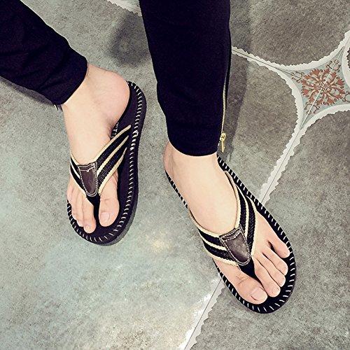 Tendances européennes et américaines en tongs pour hommes de l'été/Pantoufles et sandales usure plate-forme antidérapante/Pincer vos pantoufles pieds A