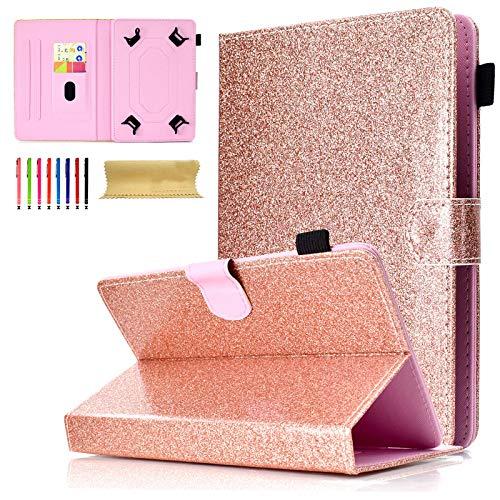 Universal Tablet-Schutzhülle mit Standfunktion für Amazon, Samsung, GoTab, RCA 04 Rosegold for 9-10 inch Tablet (Tablet Zoll Tasche Für 6 Kinder)