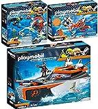 Playmobil Top Agents Set en 3 Parties 70002 70003 70004 Spy Team Bateau Turbo + Robot...