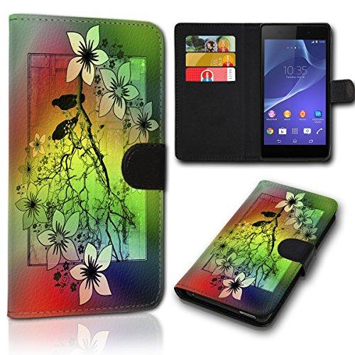 Book Style Wiko Bloom 2 Tasche Flip Brieftasche Handy Hülle Kartenfächer für Wiko Bloom 2 - Design Flip SVH34