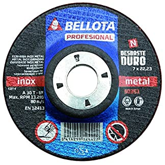 Bellota 50351-180 Disco ABRASIVO Profesional DESBASTE INOX-Metal Duro 180MM