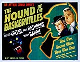 ODSAN The Hound Of Baskervilles, Basil Rathbone & Nigel Bruce, Richard Greene, 1939 - Premium-Filmplakat Reprint 16x12 I