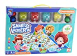 Kids Giant Snakes & Ladders Carpet Board Game Family Traditional Indoor Outdoor Garden Mat with 4 Button Press Dice...