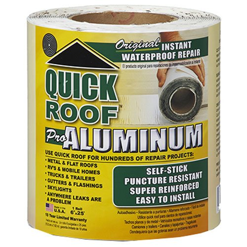 "Price comparison product image Cofair Products QR625 6"" X 25' Aluminium Quick Roof Tape"