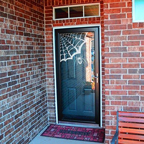 Geckoo Größere Spider Web Wand Aufkleber Play Zimmer Aufkleber Creative Halloween Vinyl Kunst Raum Ecke Aufkleber (Large, Spider Web-White; Spider-White) (Halloween Web Ecke Spider)