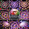 SOLMORE Disco Ball Light 9 LEDs Disco Lights with Remote Party Stage Lights 9 Colors 4 Modes Wireless Connection for Christmas Children Bedroom Night Lights Home Birthday Karaoke Festival Show USB