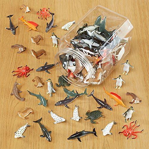 Mini figurine animaux marins marins marins 144 pièces, AssortiHommes t de 12 Styles haute qualité Relastic Jouets | Magnifique  578e15