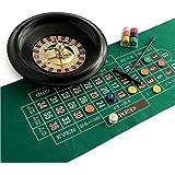 Juego - Ruleta de casino Premium, incluye tapete, ficha y recogedor (ITA Toys JU01018)