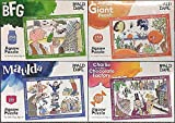 Roald Dahl Kids Jigsaw Puzzle Collection ~ Matilda/BFG/Chocolate Factory/Giant Peach ~ Collection of 4x 250 Piece jigsaw puzzles