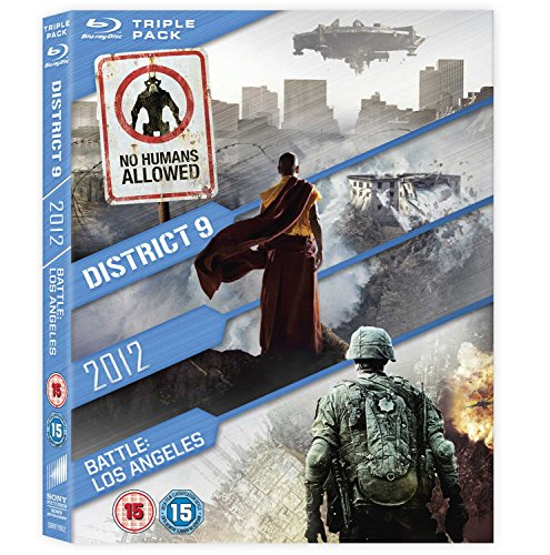 District 9 / 2012 / Battle: Los Angeles Triple Pack [Blu-ray] [Region Free]