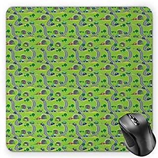 Eye Mouse Pad, Flirty Attractive Woman with Blue Eyes and Thick Lashes Beauty Glamor Youth Gaming Mousepad Office Mouse Mat Blue Black Pale Grey