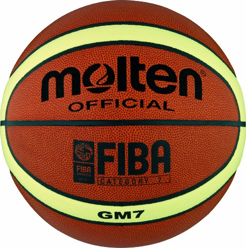 Molten BGM7 - Pallone da Pallacanestro, misura 7, colore: Arancione/Bianco